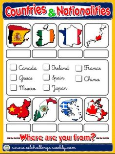 #COUNTRIES - PICTURE DICTIONARY (B)
