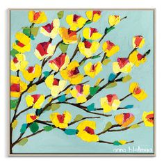 Anna Blatman | Maggie Yellow | Framed Canvas | Anna Blatman by Artist Lane @ The Home