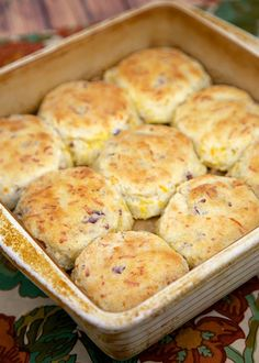 """Cracked Out"" 7up Biscuits - bisquick, sour cream, Ranch, cheddar, bacon and 7up - the best biscuits! I could make a meal out of these things!"
