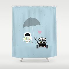 true love.. walle and eve  Shower Curtain by studiomarshallarts - $68.00