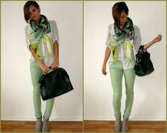 H&M Scarf, Bershka Jeans, S.Oliver Boots