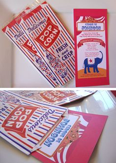 Carnival Circus Invitations  For Birthdays by DizzyDesignStudio,
