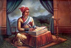 Sanskrit Granth written by Sambhaji Maharaj Shivaji Maharaj Painting, Shivaji Maharaj Hd Wallpaper, Great King, Sanskrit, Empire, Religion, Art, Pune, College