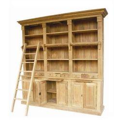 Boekenkast met ladder Cottagefield | boekenkast | Pinterest ...