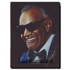 Ray Charles, Colored Pencil drawing by Lee Hammond