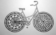 To share and discuss Zentangles. Cute Doodle Art, Doodle Art Designs, Doodle Art Drawing, Zentangle Drawings, Mandala Drawing, Zentangles, Bike Drawing, Unique Drawings, Art Drawings For Kids