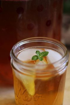 Iced Mint Tea--a dear friend made this and it was refreshing and even a little mojito-like (but no alcohol). Mmmm.