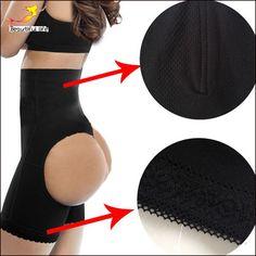 Sexy vrouwen butt lifter plus size boyshort body shaper met tummy controle butt enhancer panty zwart booty lifters underwear-d-e