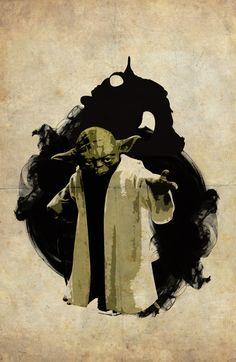 Star Wars Yoda #poster #art #starwars