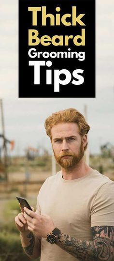 Thick Beard Grooming Tips! Grow A Thicker Beard, Thick Beard, Mens Style Guide, Men Style Tips, Best Beard Styles, Fashion Tips For Girls, Look Thinner, Beard Grooming, Dress Sketches
