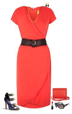 """Red &  black"" by julietajj on Polyvore featuring Uttam Boutique, Kastur Jewels, MAC Cosmetics, BCBGMAXAZRIA and Gucci"