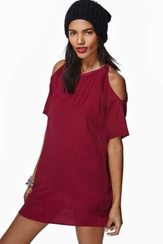 Motel Savannah Dress - Oxblood