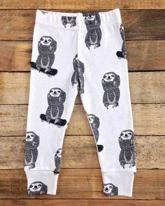 kids sloth leggings