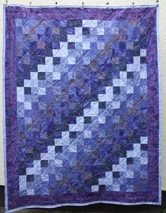 Batik Patchwork Quilt, Purple Rain Made To Order by PingWynny on Etsy https://www.etsy.com/listing/96069329/batik-patchwork-quilt-purple-rain-made
