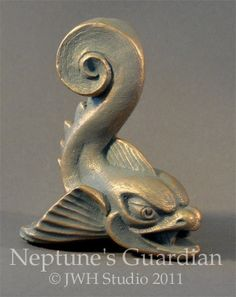 Neptune's Guardian Fish sculpture by Jay Hungate. $12.00, via Etsy.