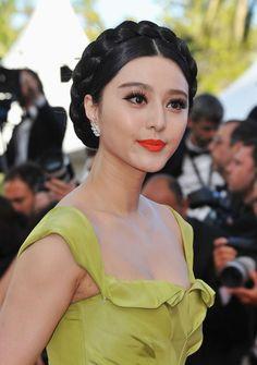 Fan Bingbing Bright Lipstick - Fan Bingbing Looks - StyleBistro