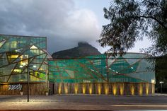 mareines + patalano's mopi school clad with transparent leaf-like panels in brazil