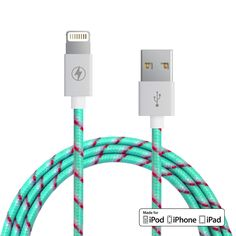 Wintermint Lightning Cable for iPhone, iPad, iPod [MFi Certified]