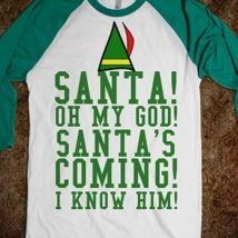 Santa's Coming  from Glamfoxx Shirts
