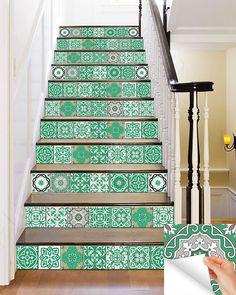 NEW Home decor Ideas Talavera Bathroom Tile Sticker Set of 24 Tiles decal mixed Tiles for walls Kitchen home decoration Mexican tile SB18