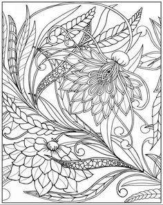 Adult Coloring Books Amazing Book For Adults Featuring Beautiful Birds And Henna Inspired Flowers Bird