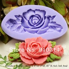 Wholesale Free shipping F199s Small Flower Silicone Fondant Mold Gum Paste Cake Decorating cake topper Mould