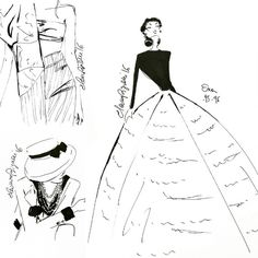 """""""Sometimes sketches are just perfect the way they come out straight from your ink #casabignami #vintage #fashionillustration #fashionista #fashionblogger…"""""""
