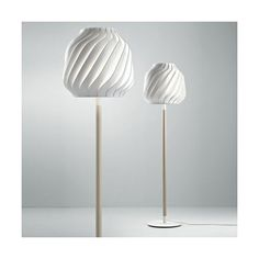 Fabbian Lamas LED Floor Lamp ($1,555) ❤ liked on Polyvore featuring home, lighting, floor lamps, energy star lighting, dim light, energy saving lighting, white wood floor lamp and transparent light