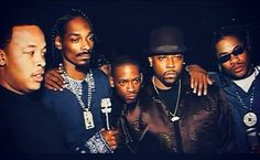 Dr Dre, Snoop Dogg, Kurupt, Nate Dogg and Xzibit. Taken on the 'Up In Smoke' Tour, 2000.