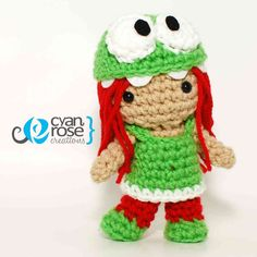 Cute Om Nom Costume Girl  Crochet Amigurumi by CyanRoseCreations, $35.00