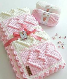 Farewell Ya Şehr-i Ramazan💕 The peace of the development is the sadness of your departure . Bobble Stitch Crochet Blanket, Baby Girl Crochet Blanket, Easy Crochet Blanket, Crochet Quilt, Knitted Baby Blankets, Crochet Baby Hats, Baby Knitting, Crochet Square Patterns, Crochet Blanket Patterns