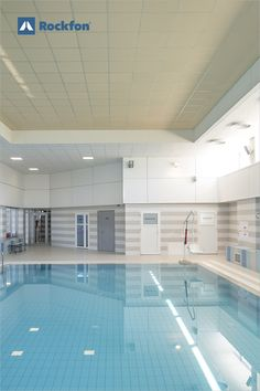 Stucco from our Colours of Wellbeing palette makes people feel more optimistic and positive. Discover how the Atlantic pool got an uplifting and comfortable environment with great acoustics for its guests to enjoy. #soundsbeautiful #coloursofwellbeing #acoustic #acousticdesign #colour #colourdesign #colourceiling #yellowceiling #pooldesign #designwithcolour #wellbeing #stucco Acoustic Ceiling Tiles, Acoustic Design, Yellow Ceiling, Pool Designs, Environment, Palette, Colours, People, Pallets