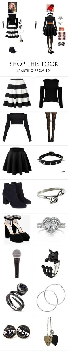 """""""Scarlet Clifford: """"Thumbs"""" Duet with Sabrina Carpenter at IHeart Radio Music Awards"""" by ghoul1010 ❤ liked on Polyvore featuring Akris Punto, Monsoon, NOVICA, Jimmy Choo, GET LOST, Mark Broumand and Melissa Odabash"""