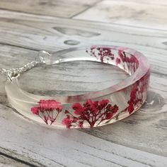 The perfect gift real flower resin bangle what a statement