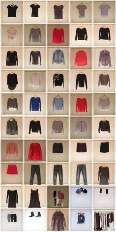 Capsule Garderobe Frühling Herbst und Winter Ideen /Project 333 fall/winter/spring wardrobe – the pictures! by http://theorganizedcardigan.de