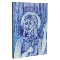Icono 'La Caña cascada', obra de Kiko Argüello, iniciador del Camino Neocatecumenal. Sacred Art, Night, Artwork, Videos, Recipes, Christ, Grey Hair, Waterfalls, Drive Way