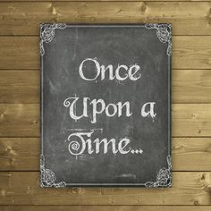 Once Upon a Time Print Fairytale Printable by StudioPrintables