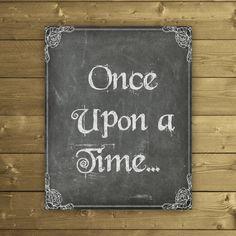 Once Upon a Time Print Fairytale Printable by StudioPrintables
