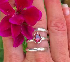 Irresistible pink Tourmaline pirouette ring in size 7. Purchase it today before the collection launch !! leave me a message at tamara Michelle jewelry on Facebook and your priority shipping is free..