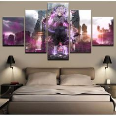 Home Decor Printed Artwork Canvas Painting 5 Pieces Dragon Ball Animation Poster For Living Room Wall Art Pictures Cuadros Frame Picture Wall Living Room, Living Room Pictures, Wall Art Pictures, Pictures To Paint, Living Room Decor, Canvas Artwork, Artwork Prints, Canvas Prints, Wall Canvas