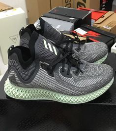 New Arrival Best Gray adidas Models Trainers Futurecraft Alphaedge 4D  Running Shoes Detail Images 9 245f35afa
