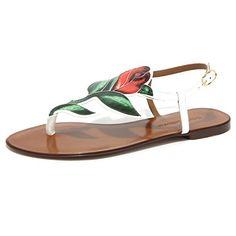 1922O infradito DOLCE GABBANA bianco rosso verde sandali donna sandal  women  Amazon.it  Scarpe e borse. Infradito DOLCE   GABBANA ... 066990a573c