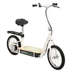 EcoSmart Metro Electric Scooter: The Advanced Street Systems by Razor. Designed for true neighborhood transportation. No gasoline needed! Electric Scooter With Seat, Electric Cars, Electric Tricycle, Electric Razor, Pneumatic Tube, Bamboo Decking, Kick Scooter, Scooter Bike, Luggage Rack