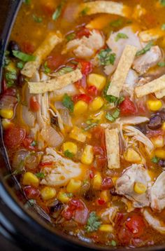 Crock Pot Chicken Tortilla Soup is the perfect warm you up meal your family will love! Crock Pot Chicken Tortilla Soup is the perfect warm you up meal your family will love! Crockpot Dishes, Crock Pot Soup, Crock Pot Slow Cooker, Crock Pot Cooking, Slow Cooker Chicken, Slow Cooker Recipes, Crockpot Recipes, Cooking Recipes, Easy Cooking