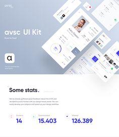 avsc. - Free UI Kit on Behance