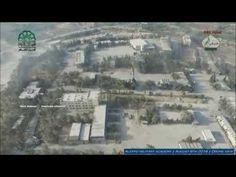 Guerra na Síria - Drone mostra Academia Militar tomada por terroristas -...