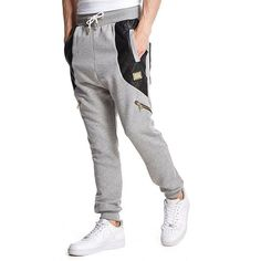 Supply & Demand Barrow Joggers (£20) ❤ liked on Polyvore featuring men's fashion, men's clothing, men's activewear, men's activewear pants, grey marl, mens activewear and mens activewear pants
