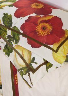 Lenzuola in percalle raso stampato, balza costituita con fascia da 7cm. Porta l'estate sul tuo letto con i prodotti di Reevèr One Home ^_^