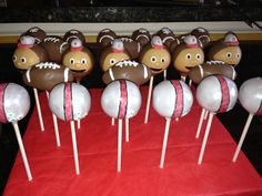 Ohio State Buckeye Cake pops!! Great for tailgate and football parties!! Created by: C.R. Pops Columbus, Ohio crpops12@gmail.com