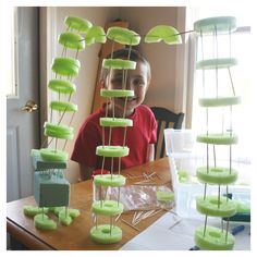 Pool noodle structures are fun and easy to build. This simple engineering activity is also an inexpensive idea for STEM learning. Get creative and build! Stem Projects, Science Projects, Science Ideas, Science Experiments, School Projects, Art Projects, Steam Activities, Summer Activities, Indoor Activities
